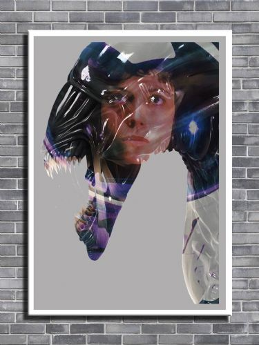 1980's Movie - ALIENS RIPLEY FADE canvas print - self adhesive poster - photo print